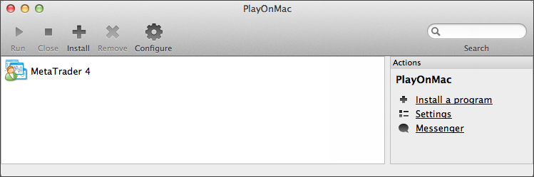 Installed MetaTrader 4 terminal