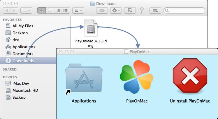 Launching PlayOnMac installation